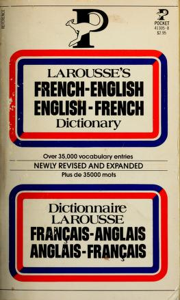 Cover of: Larousse's French-English/English-French Dictionary   Society encyclopedique un