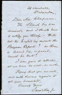 [Letter to] Dear Mrs. Chapman by Samuel May