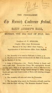 The Programme of the Norwich Conference Festival (1851)