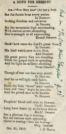 A Song for Deseret (1859)